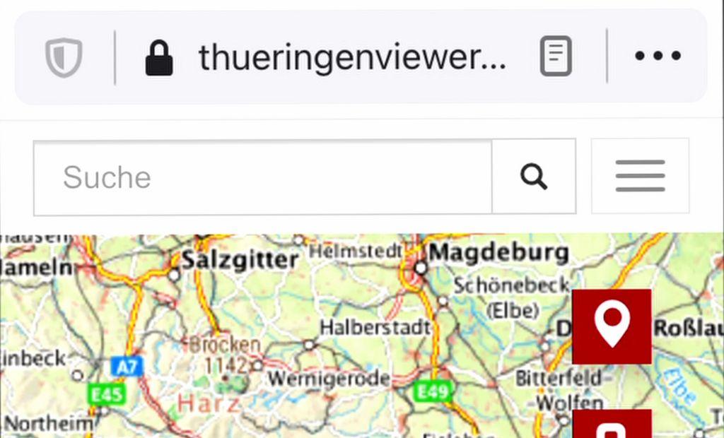 Ansicht Anwendung ThüringenViewer