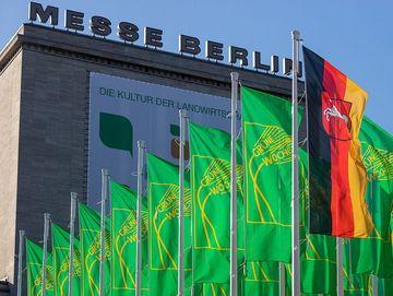 Aussenansicht Messe Berlin zur Grünen Woche
