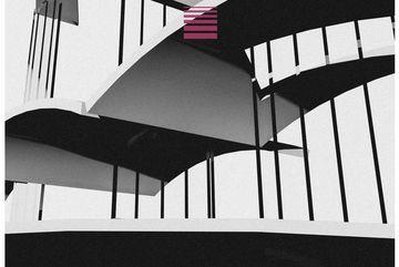 Plakat Horizonte - verbundene Brückenstrukturen auf Stehlen