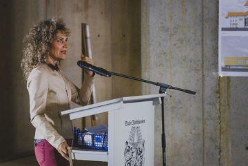 Landtagspräsidentin Birgit Keller bei Ihrer Ansprache