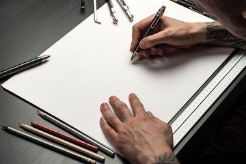 Leeres Blatt für Handzeichnung mit Stift