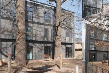 Ansicht Kita-Gebäude auf dem Campus Bauhaus Universität Weimar von Außen
