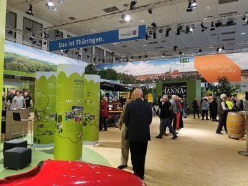 Blick in Halle 20 Thüringenstand